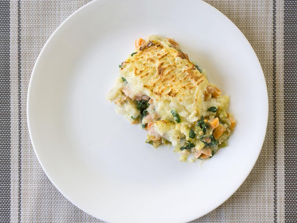 Fish Pie serving