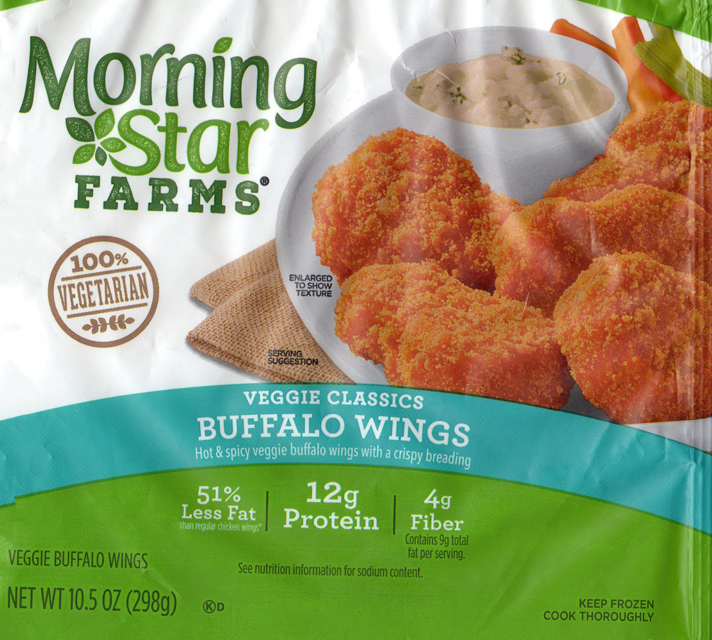 MorningStar Farms Buffalo Wings packaging front