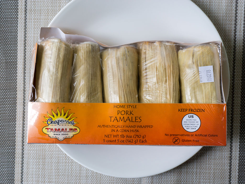 Chapparos Pork Tamales package