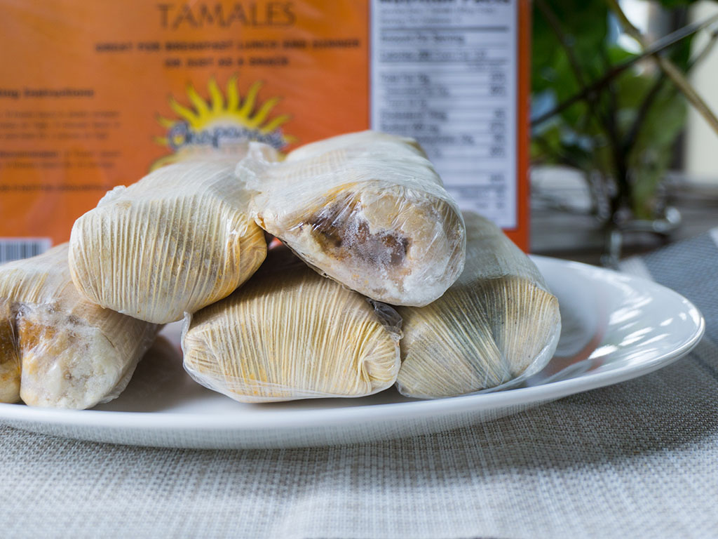 Chapparos Pork Tamales whats in the package