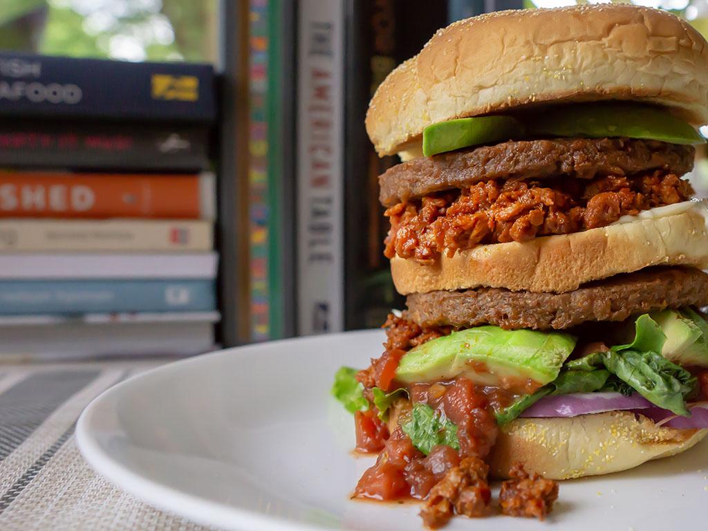 El Burrito Soyrizo burger