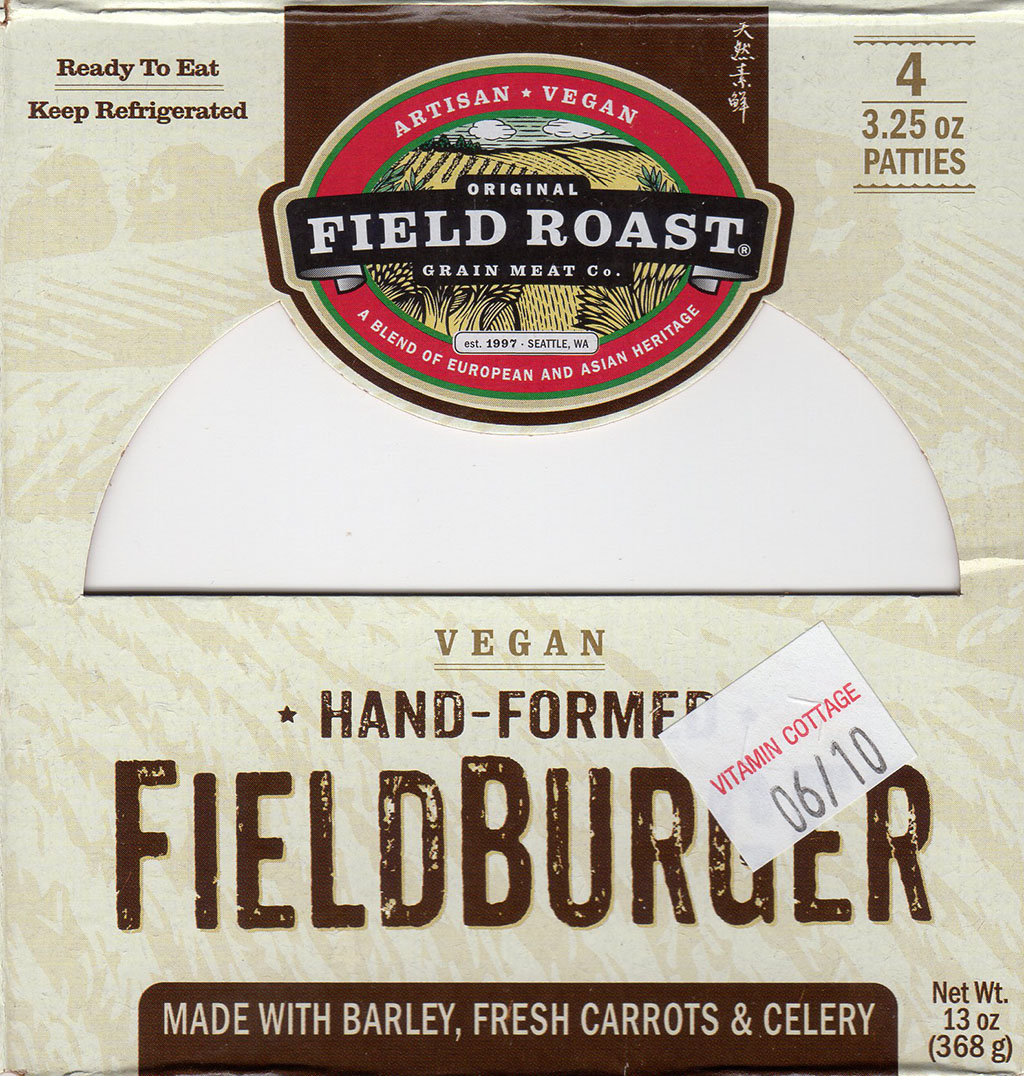Field Roast FieldBurger package front