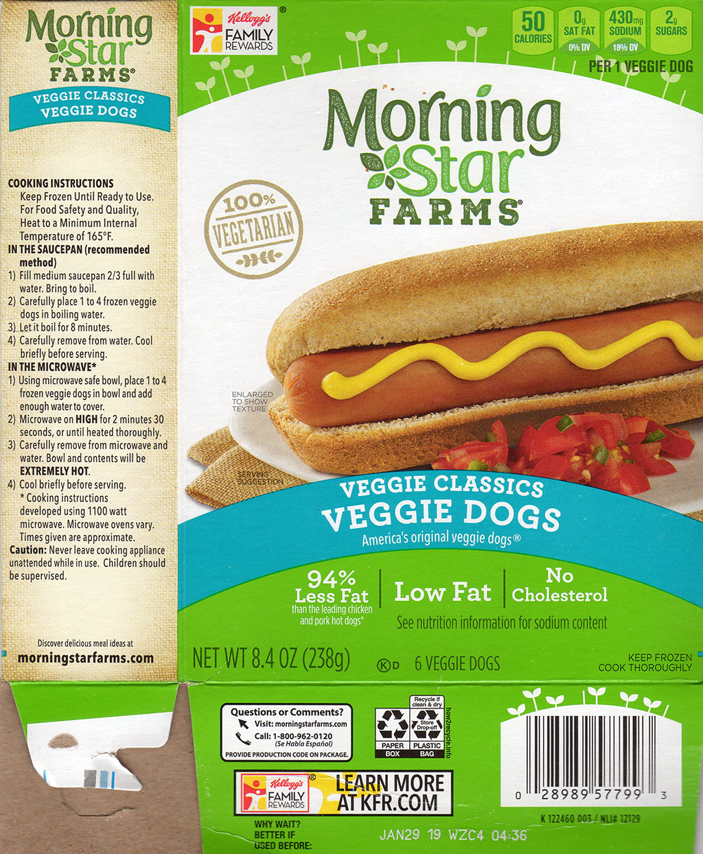 MorningStar Farms Veggie Dogs package front