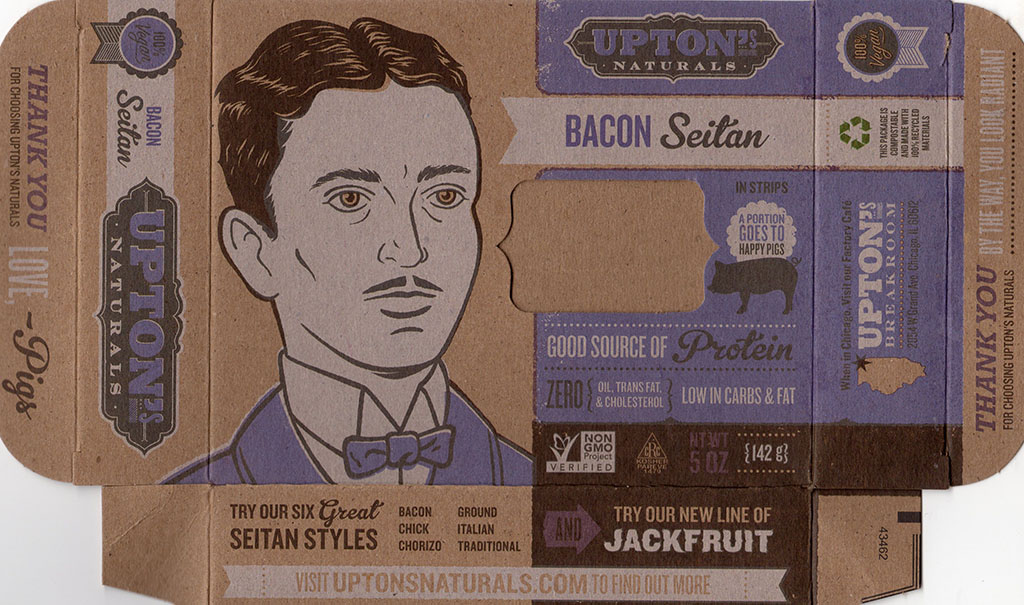 Upton's Naturals Bacon Seitan package front
