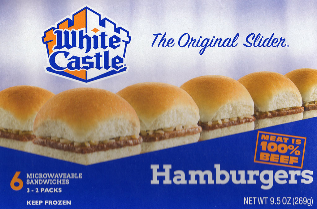 White Castle Hamburger Sliders package front