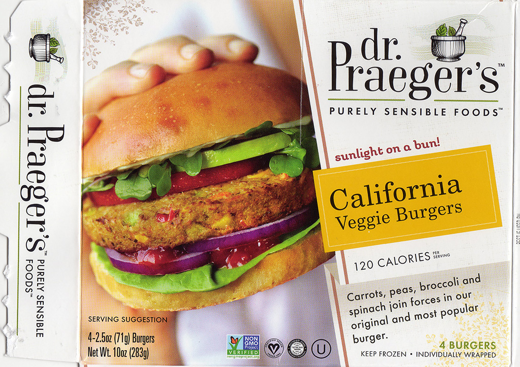 dr Praeger's California Veggie Burgers package front