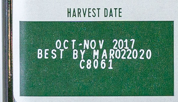 California Olive Ranch Extra Virgin Olive Oil harvest date and best buy