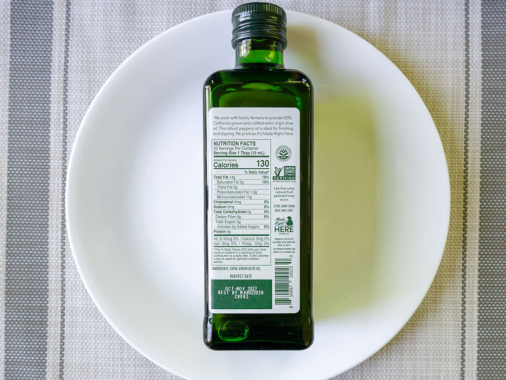 California Olive Ranch Extra Virgin Olive Oil nutrition
