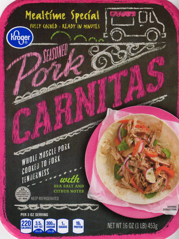Kroger Pork Carnitas package front