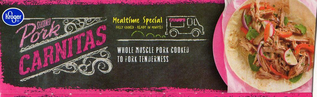 Kroger Pork Carnitas package side