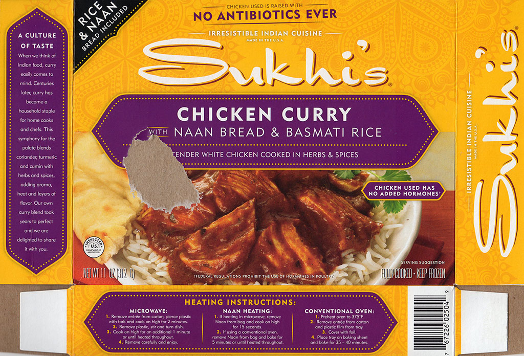 Sukhi's Chicken Curry package front