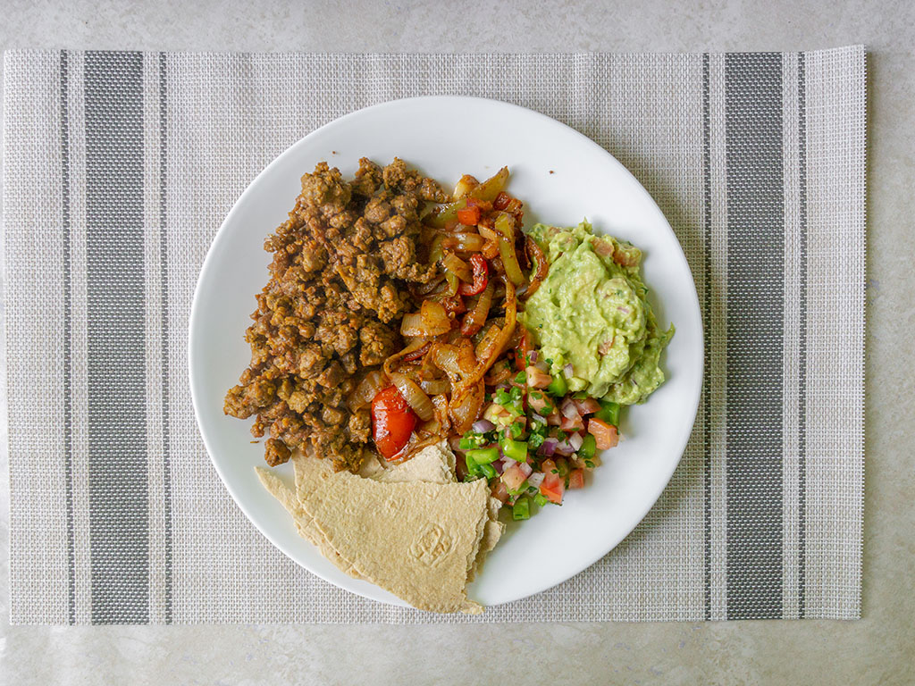 Upton's Naturals Chorizo Seitan Mexicna plate