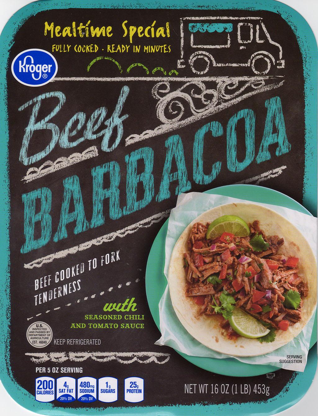Kroger Beef Barbacoa package front