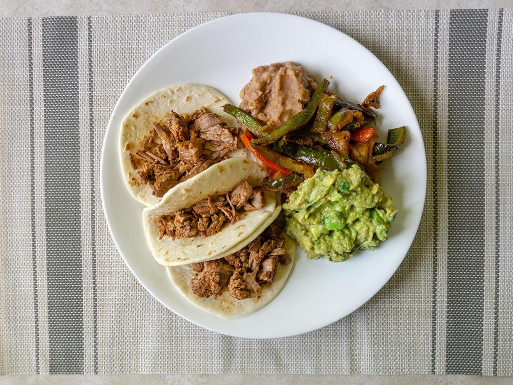 Kroger Beef Barbacoa taco plate