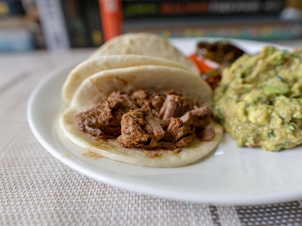 Kroger Beef Barbacoa tacos close up