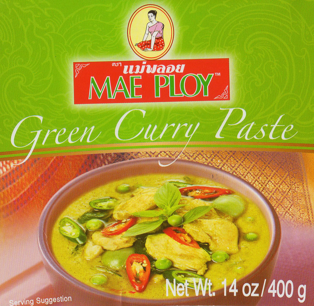 Mae Ploy Green Curry Paste package front