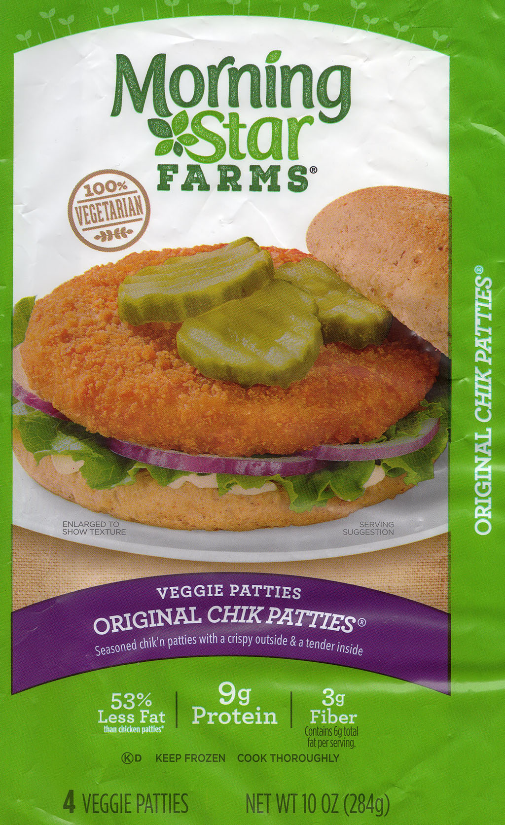 MorningStar Farms Buffalo Chik Patties package front