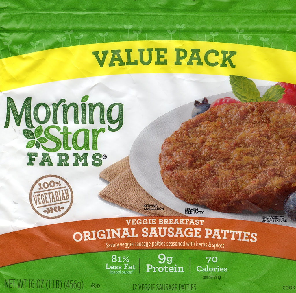 MorningStar Farms Original Sausage Patties package front