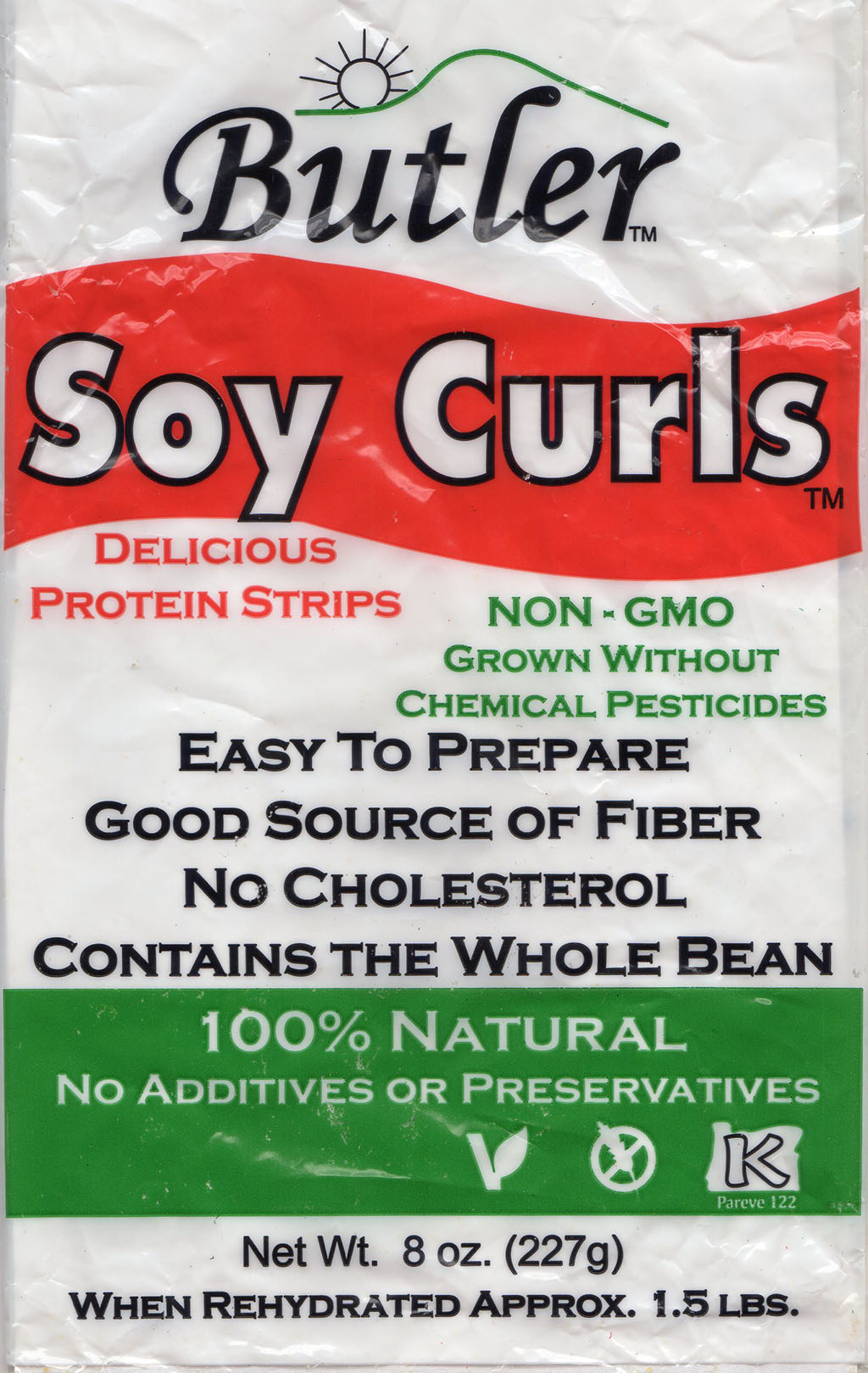 Butler Soy Curls packaging front