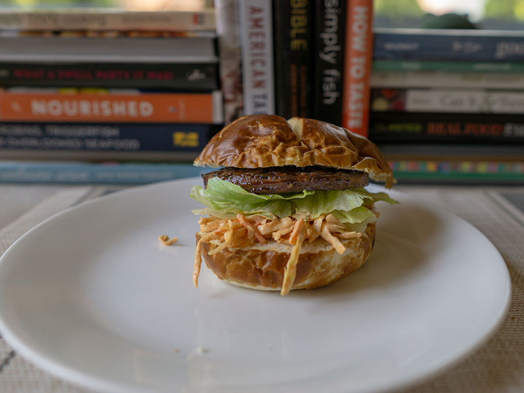 Gardein The Ultimate Beefless Burger - hoisin burger