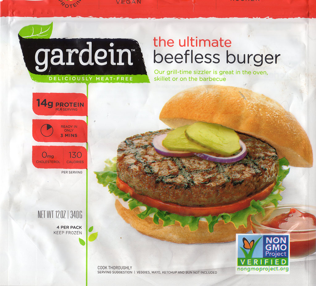 Gardein The Ultimate Beefless Burger package front