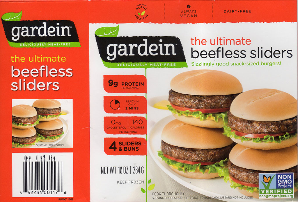 Gardein The Ultimate Beefless Sliders package front