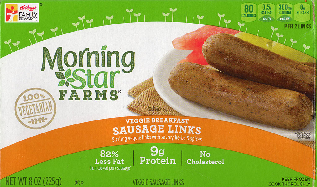 MorningStar Farms Veggie Breakfast Sausage Links package front