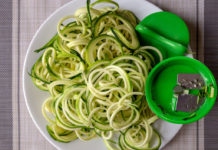 OXO Good Grips Hand Spiralizer spiralized zucchini noodles