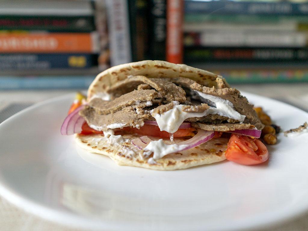 Trader Joe's - Gyro Slices gyro with tomato, onion and yogurt