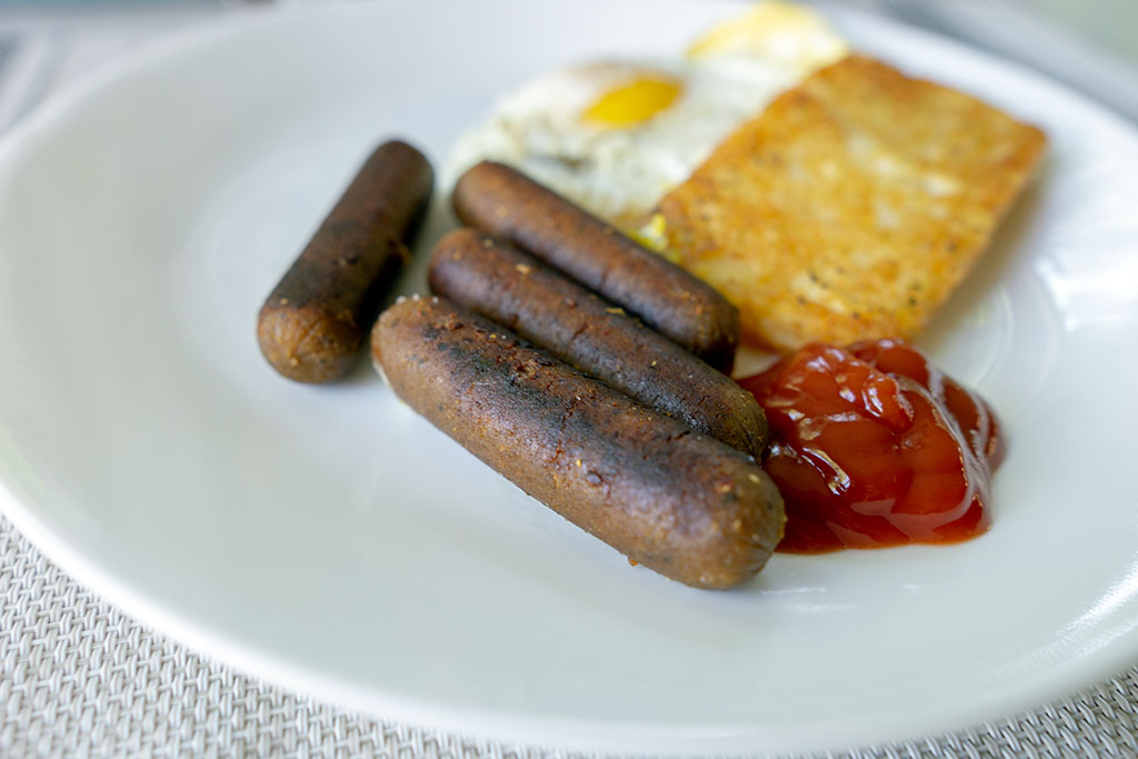 Field Roast Breakfast Sausage close up