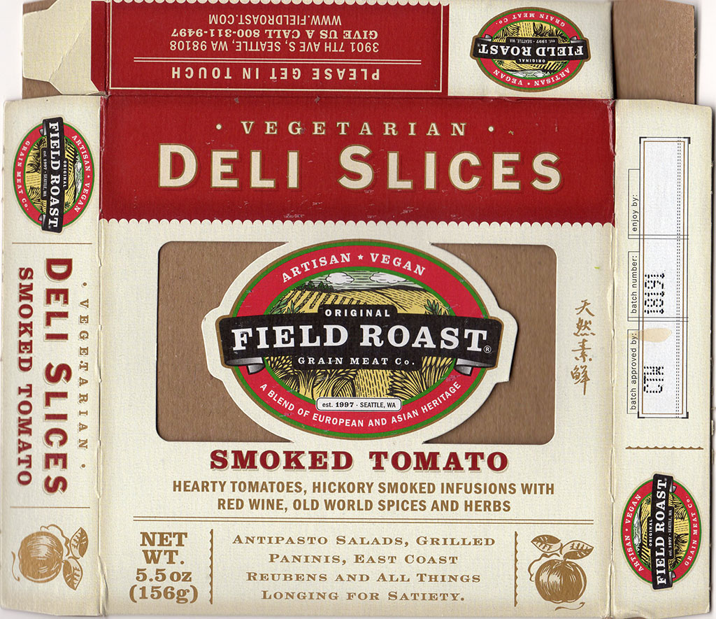 Field Roast Smoked Tomato Deli Slices package front