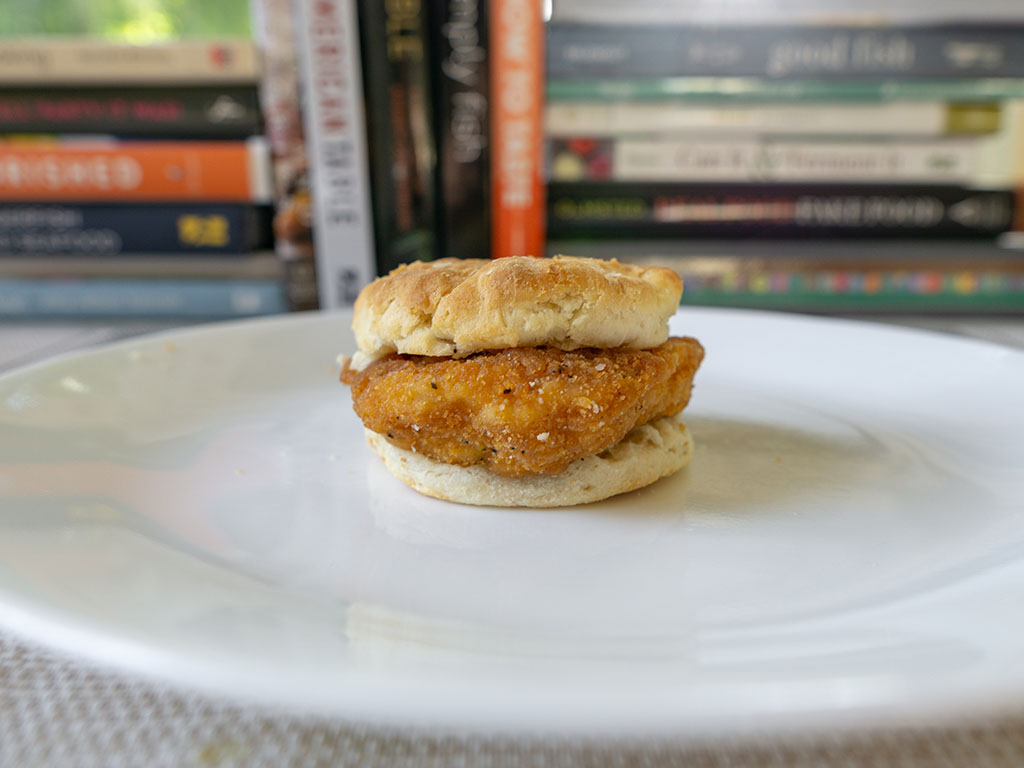 Jimmy Dean Southern Style Chicken Biscuit - cooked side view