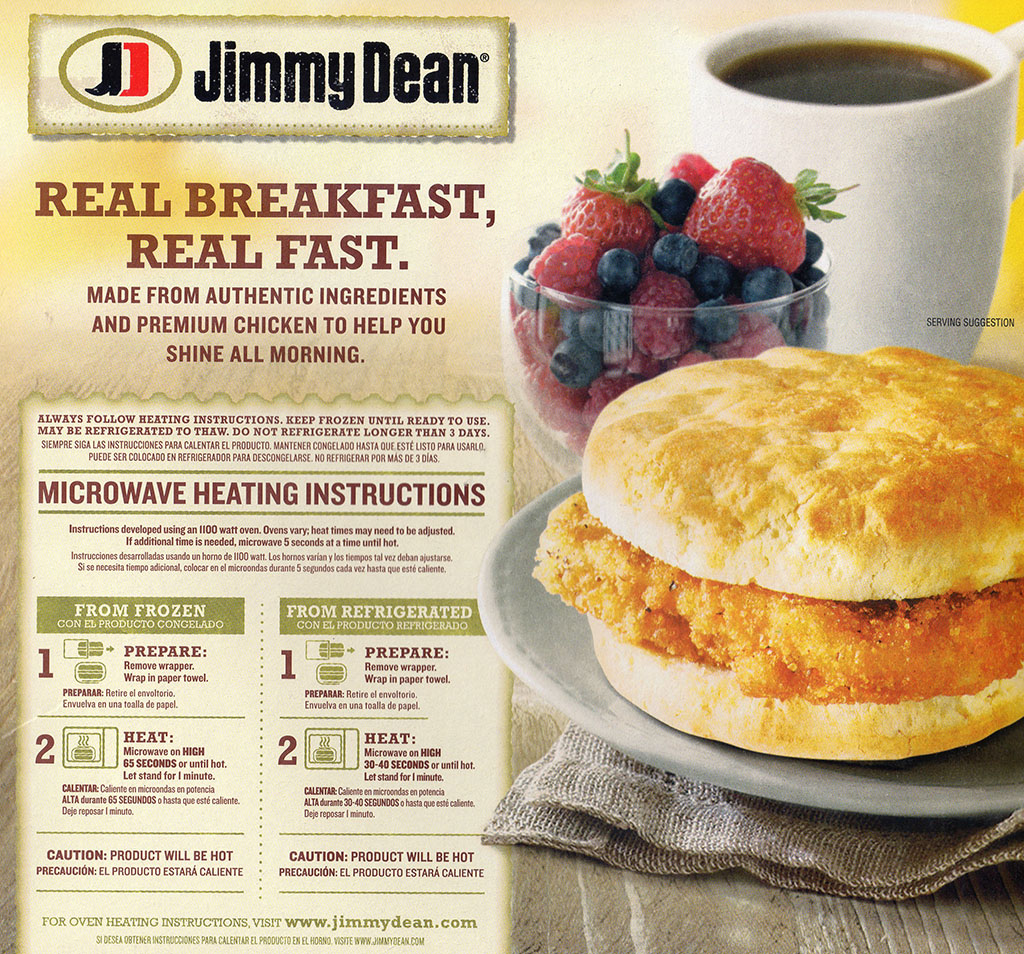 Jimmy Dean Southern Style Chicken Biscuit cooking instructions
