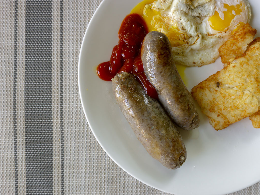 Johnsonville Brats Original - breakfast plate