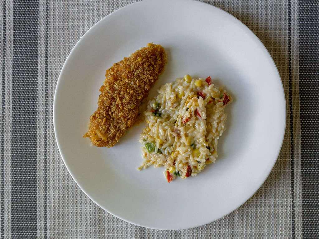 Lean Cuisine Tortilla Crusted Fish - cooked and plated