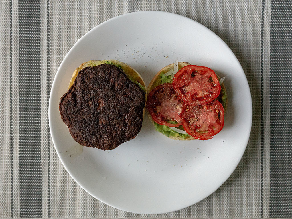 MorningStar Farms Meat Lovers Vegan Burgers - cooked in the pan