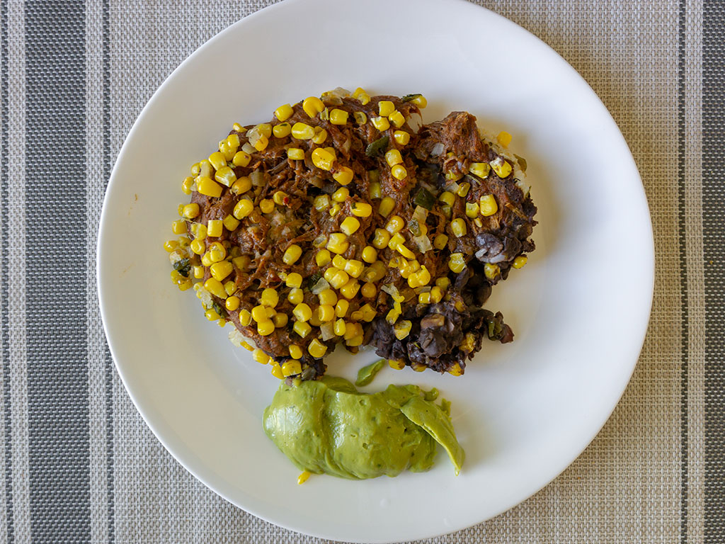 Sam's Choice Beef Barbacoa Burrito Bowl - cooked and plated