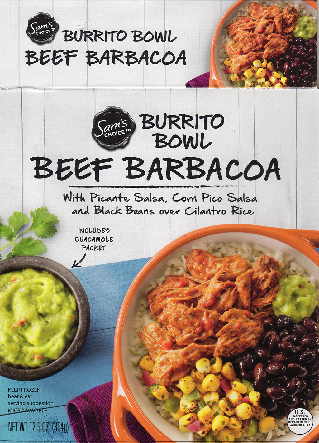 Sam's Choice Beef Barbacoa Burrito Bowl package front
