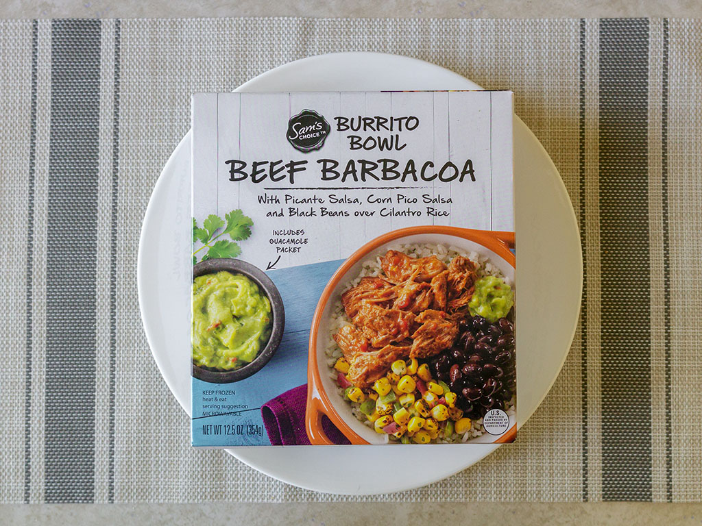 Sam's Choice Beef Barbacoa Burrito Bowl