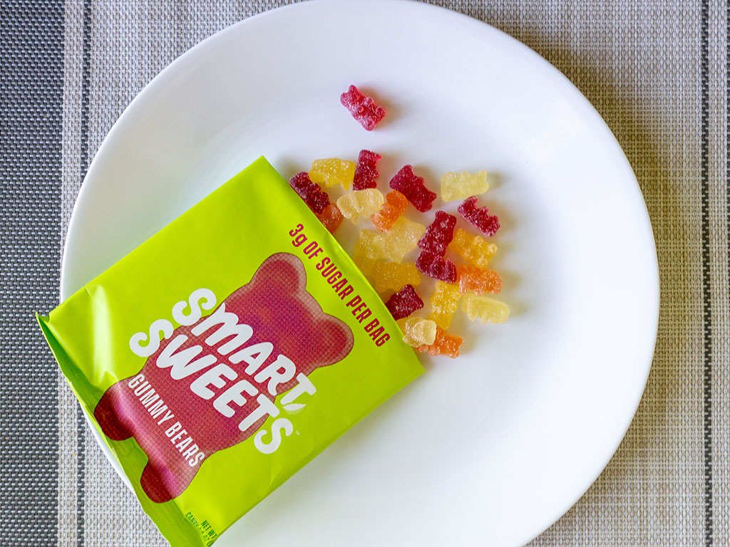 Smart Sweets Gummy Bears sour out of bag