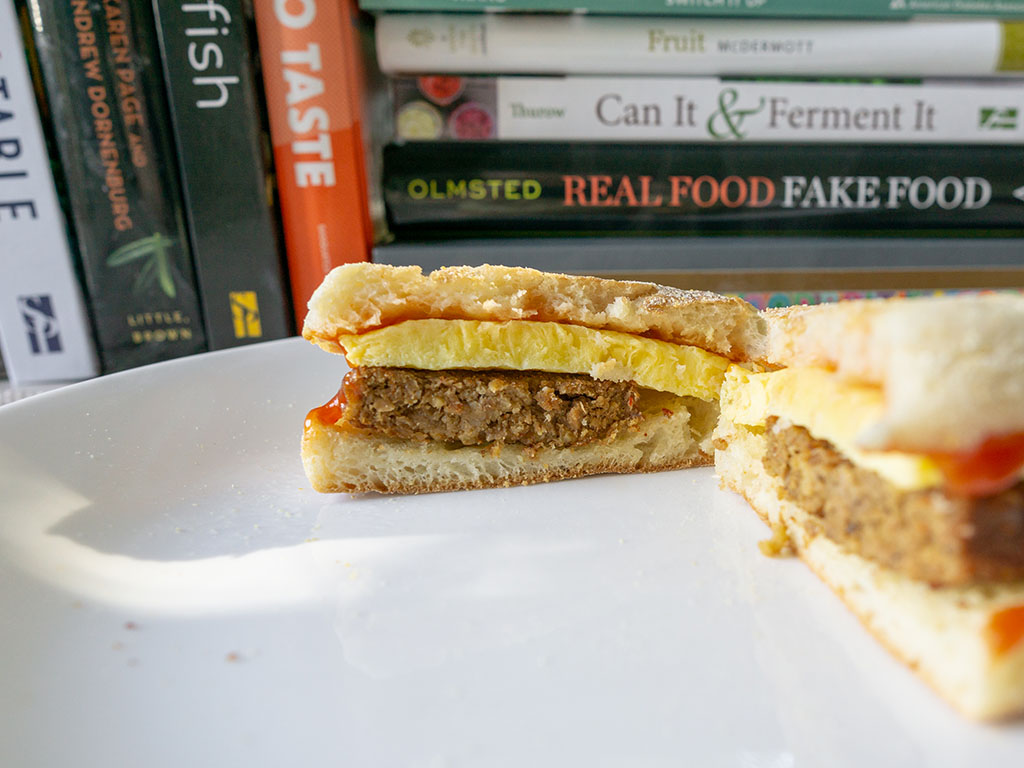 Echo Lake Foods Scrambled Egg Patties - cross section