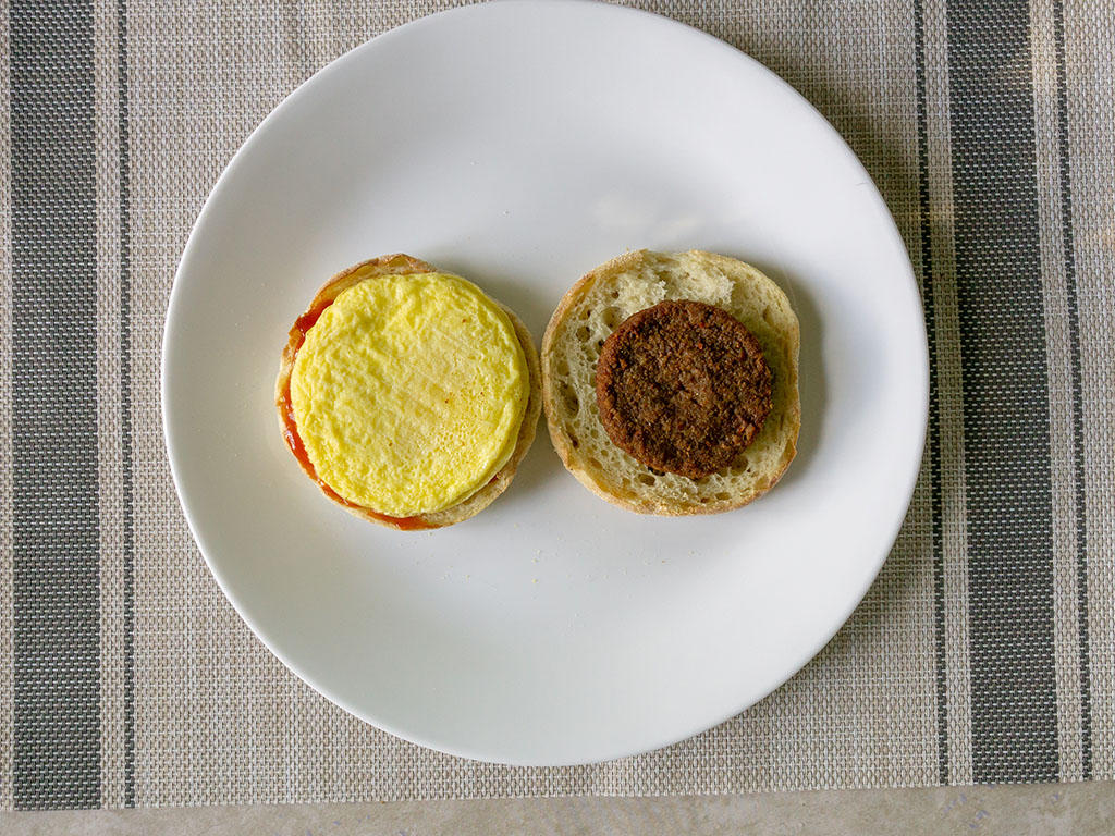 Echo Lake Foods Scrambled Egg Patties - perfectly sized for English muffin