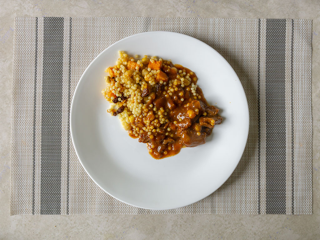 Lean Cuisine Marketplace Moroccan-Style Spiced Beef - cooked and plated