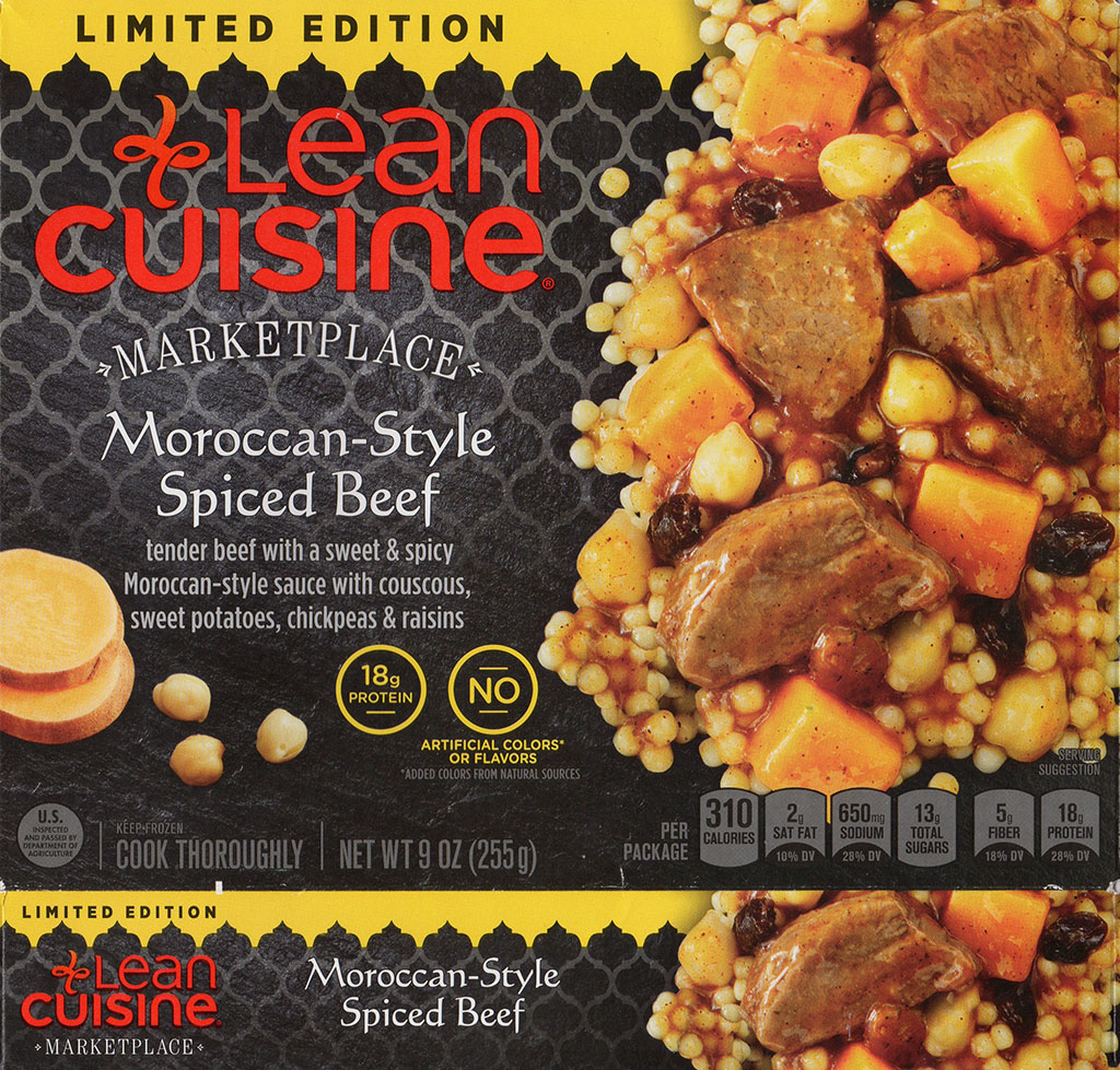 Lean Cuisine Marketplace Moroccan-Style Spiced Beef package front