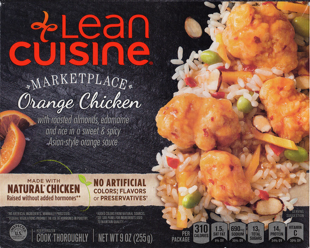 Lean Cuisine Marketplace Orange Chicken package front