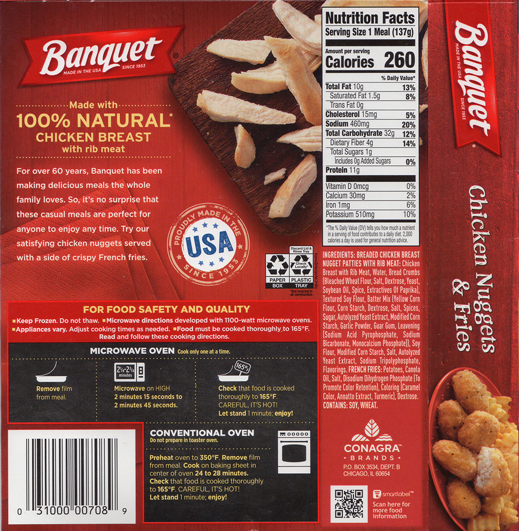 Banquet Chicken Nuggets And Fries - cooking instructions, nutrition, ingredients