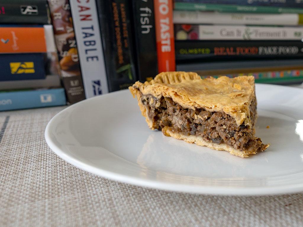 British beef and onion pie - chilled slice