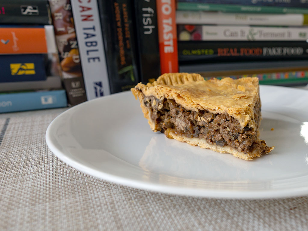 British beef and onion pie - chilled slice