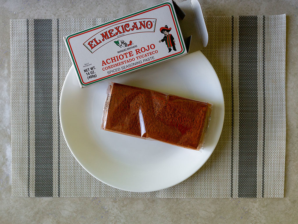 El Mexicano Achiote Rojo inside the packet