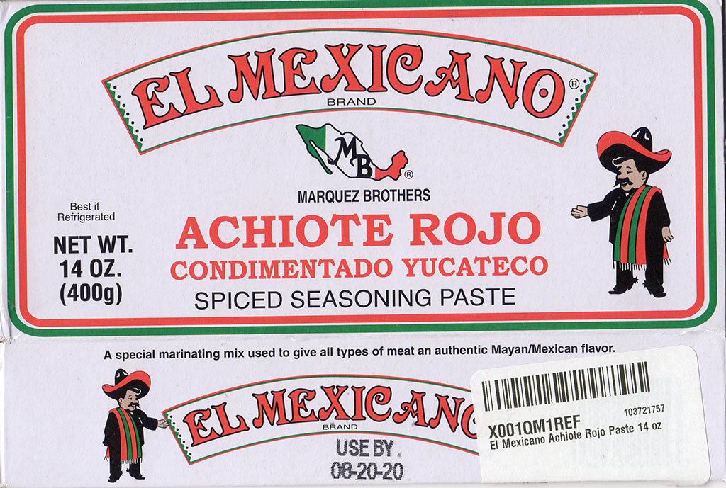 El Mexicano Achiote Rojo package front